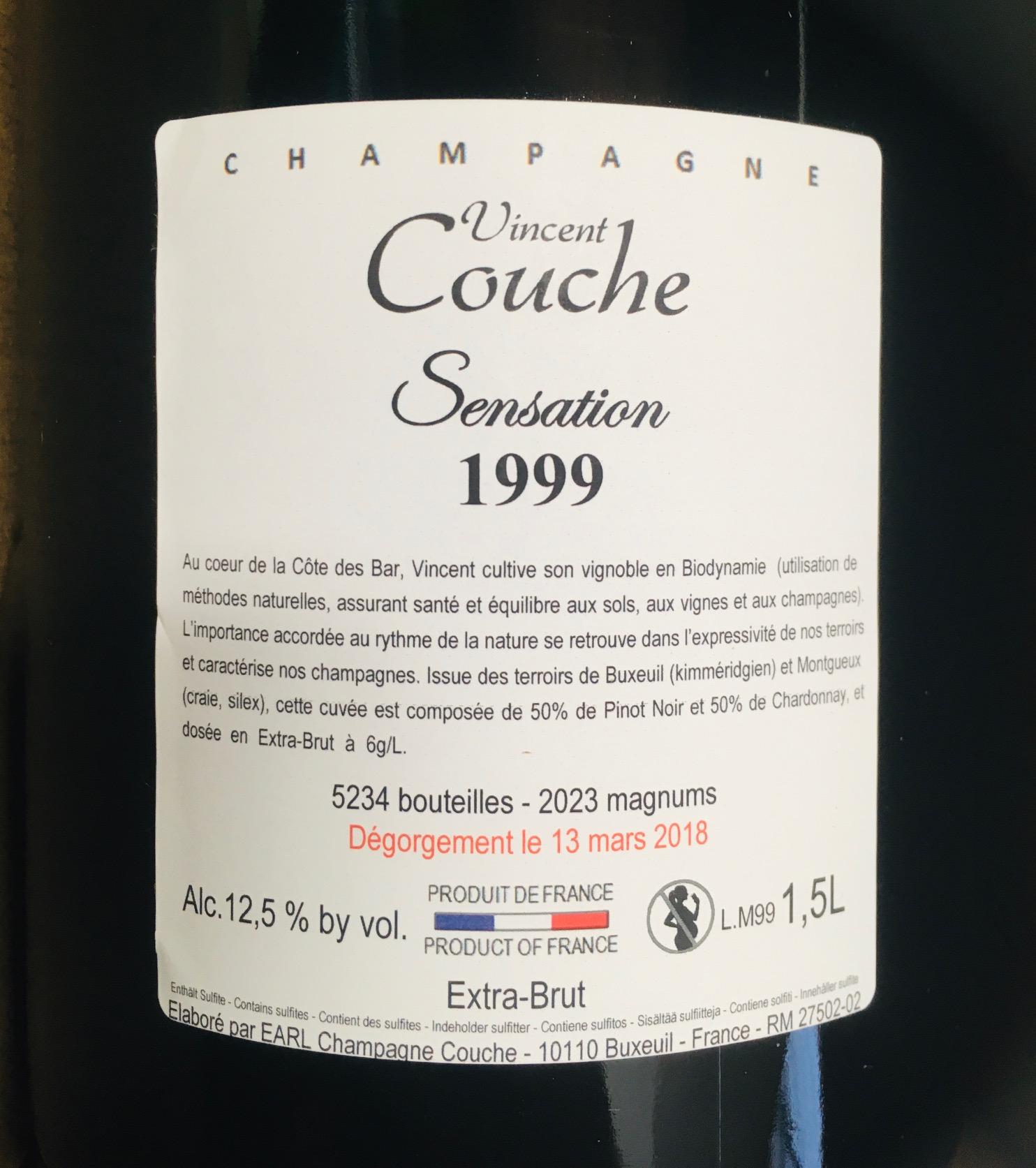 VINCENT COUCHE SENSATION 1999