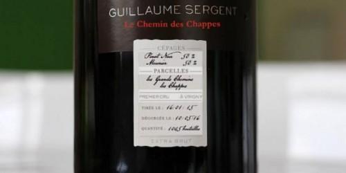 GUILLAUME SERGENT, LE CHEMIN DES CHAPPES, EXTRA BRUT, BLANC DE NOIRS