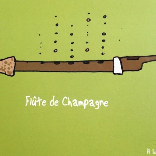 POSTCARD FLUTE DE CHAMPAGNE